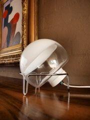 Angelo Mangiarotti, Sferta Table Lamp with Chrome Base, 1978.