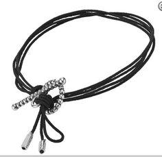 Pandora Black Cord And Silver Toggle Bracelet Christmas Presents