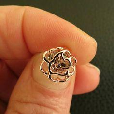 Stud earrings Fashion Women / Girl's 18k gold-plated silver CZ Diamond Rose jewelry gift Jewelry Earrings