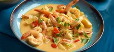 Delhaize - Scampi's met rode curry