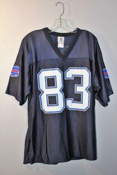 NFL Team Apparel Buffalo Bills 83 Lee Evans Blue Jersey Mens Size Large    NFLTeamApparel 698c66326