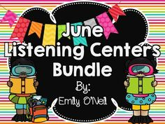 June Listening Centers Bundle from EmilyO. from EmilyO. on TeachersNotebook.com - These are a fantastic way to integrate safe technology into your center time! I have created these listening centers based on various themes. There are three versions included for each theme.