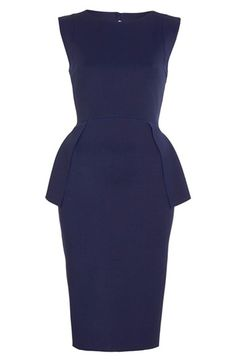 Topshop Open Back Jersey Peplum Dress / Nordstrom. LOVE this dress!
