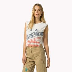 Tommy Hilfiger Mouwloos T-shirt - marshmallow/multi - Tommy Hilfiger T-Shirts - detailbeeld 1