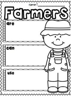 "Farm and Farm Animals ""Research"" Writing Unit for Grades Farm Animal Crafts, Farm Crafts, Farm Animals, Homeschool Kindergarten, Kindergarten Writing, Homeschooling, Preschool, Literacy, Farm Lessons"