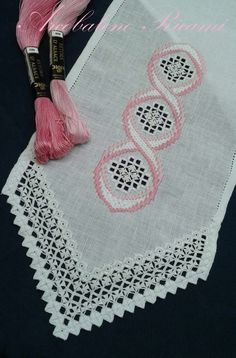 images about hardanger on Embroidery Designs, Types Of Embroidery, Learn Embroidery, Hardanger Embroidery, Cross Stitch Embroidery, Broderie Bargello, Labor, Crochet Bracelet, Satin Stitch