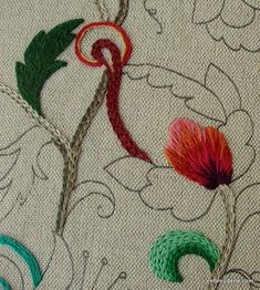 Long and short stitch explanation: blending colors in embroidery - do excelente Embrodery for ducks