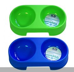 Double Pet Food and Water Bowl Approximate Size 28 x 13cm Made from hard durable plastic