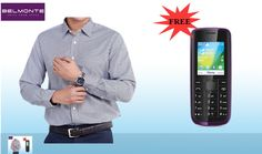 Buy a Belmonte Formal Shirt at only & Get a Mobile Phone Worth 500 FREE Brighten your workplace by adorning the Belmonte shirt ! Formal Shirts, Designer Dresses, Phone, Coat, Workplace, Coupons, Stuff To Buy, Free, Designer Gowns