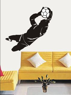 Amazon.com - Large--Easy instant decoration wall sticker wall mural Sport boy girl adault room decal SPS278 soccer player - Nursery Wall Decor