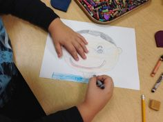 Pittsburgh Glamour : Second Grade Self-Portrait: Art Classroom