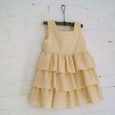 vanilla ruffles girls dress / custom handmade in by SewnNatural, $98.00