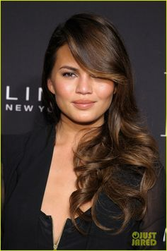 Incredible hair!!! --Chrissy Teigen & Christina Ricci: Elle Fashion Next at NYFW!