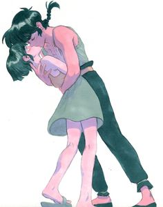 This is so romantic! I love Ranma and Akane! They are such a cute couple when they are not fighting!