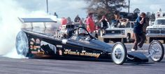 "JP Logistics Car Transport -  Got one?  Ship it with http://LGMSports.com ""Slam'n Sammy"" (Miller) 1970s wedge dragster"