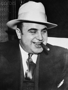Gangster Al Capone Smoking Cigar - BE065337 - Rights Managed - Stock ...