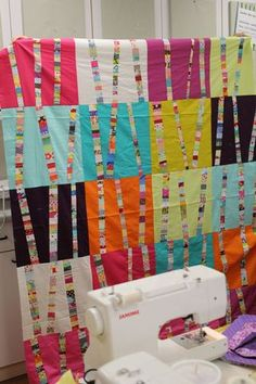 Use up those scraps! Reminds me of birch trees- rather whimsical trees, that is!@Ruthann Grace
