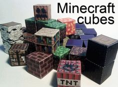 Minecraft Blocks for Your Birthday Party
