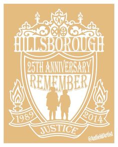 25th anniversary of the Hillsborough Disaster. Liverpool FC