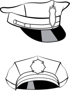 Police Hat Police Hat SVG SVG Clipart Cricut Silhouette | Etsy Kids Police, Police Hat, Police Officer, Scan N Cut, Party Banners, Craft Items, Free Items, Handmade Crafts, Cutting Files