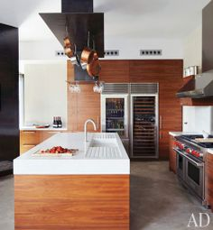 Kitchen. Cement and timber.