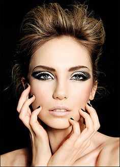 An edgy 60's style. This is a cool look.