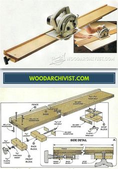 DIY Circular Saw Guide - Circular Saw Tips, Jigs and Fixtures - Woodwork, Woodworking, Woodworking Plans, Woodworking Projects Woodworking Workshop, Woodworking Jigs, Woodworking Projects, Serra Circular, Circular Saw, Wood Tools, Diy Tools, Diy Wood Projects, Wood Crafts