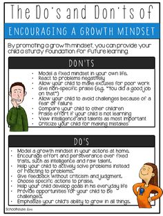 Growth Mindset Do's and Don'ts