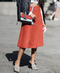 Five easy ways to wear the midi skirt this fall.