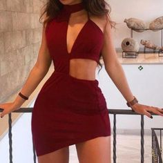 Burgundy Halter Sheath Homecoming Dresses,Irregualr Dark Red Hoco Dresses on Storenvy Off The Shoulder Double Ruffle Tankini Top - Red Plum Embroidery Flora Red Hoco Dress, Hoco Dresses, Club Dresses, Sexy Dresses, Fashion Dresses, Homecoming Dresses, Women's Fashion, Fashion Women, Fashion Stores