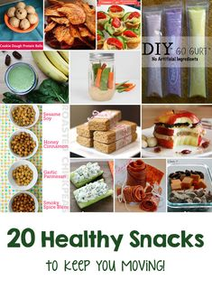 20 Healthy Snacks to Keep You Moving! - Oh I love these recipes! | via @craftingchicks