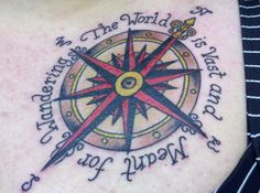 Perfect quote for a better compass tattoo design. Am digging this schniz.