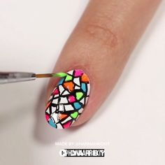 How to DIY Mosaic Nails How to Get a Criss Cross Manicure How to Get a Blue Gingham Nail Manicure The Real Hello Kitty Infographic: Hello Kitty is a fictional character produced by the Japanese company Sanrio, first designed by … Nail Art Diy, Cool Nail Art, Diy Nails, Love Nails, Pretty Nails, Nagel Hacks, Nail Design Video, Nails Design, Nagellack Trends
