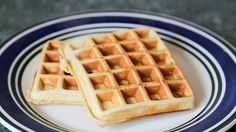 These low carb waffles are so quick and easy to make. Even faster than pancakes! It takes about 1 minute to mix everything up, 2 minutes in the waffle iron and you've got yourself a healthy low-carb, high protein breakfast, snack or dessert Low Carb Waffles, Low Carb Bread, Low Carb Keto, High Protein Breakfast, Eat Breakfast, Waffle Recipes, Low Carb Recipes, Bread Recipes, Waffle Ingredients