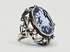 Orno - Antyki i starocie - sklep online - Allegro. Handmade Silver, Topaz, Jewelery, Gemstone Rings, Bright, Gemstones, Metal, Stuff To Buy, Psychology