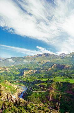 Colca River... Peru http://incatrail.info #incatrail #machupicchu #peru