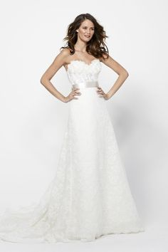 Mixture of Lace and Tulle Layers    #watters #weddingdress http://www.pinterest.com/wattersdesigns/