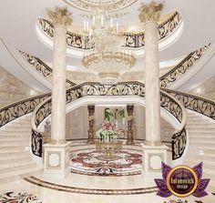 Luxurious Villa Design in Cambodia Luxury Staircase, Grand Staircase, Staircase Design, Stairs, Mansion Interior, Luxury Homes Interior, Home Interior Design, Villa Design, House Design