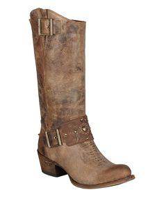 Look at this #zulilyfind! Lane Boots Tan Wild Ride Leather Western Boot by Lane Boots #zulilyfinds