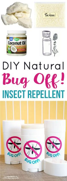 DIY Natural Bug Off Insect Repellent Sticks | instead of rubbing Purification on neat all summer I could just make these with Purification in them instead! Just like my solid carrier oil sticks! Why didn't I think of that??