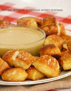 Pretzel Bites with Homemade Honey Mustard