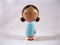 Dorothy Goes to Oz Kokeshi Peg Doll by knottingwood on Etsy, $18.00  SWEET LITTLE DOROTHY GALE OF KANSAS