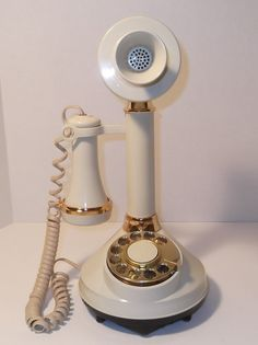 Vintage Candlestick Rotary Dial Phone 1973