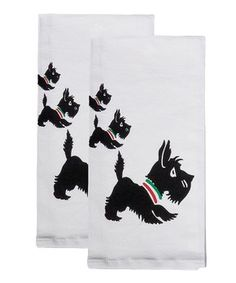 Scottie Flour Sack Towel - Set of Two