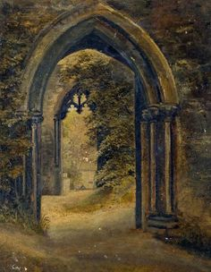 The Ruins of the Bishop's Palace, Lincoln, UK by Edith Toynbee