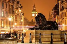 Best Of Londonist: Star Wars, Water Cannons And Porpoises Long Exposure Photos, Water Cannon, London Attractions, British Things, Trafalgar Square, Timeline Photos, Night Photography, Westminster, Empire State Building