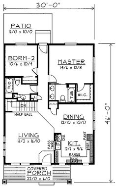 Perfect Smaller SqFt 2 Bedroom 2 Bathroom Home   1000 To 1200 Square Feet House  Plans Part 81