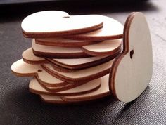 <60pcs/lot> 5CM Wooden heart decoration Sell at price USD13.68/LOT/60PCS!!! Free Shipping!!!