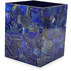 Mike & Ally Taj Lapis Wastebasket ($1,665) ❤ liked on Polyvore featuring home, bed & bath, bath and bath accessories