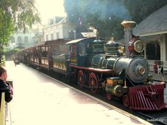 Disneyland railroad the happiest place on earth has TRAINS of course --lol